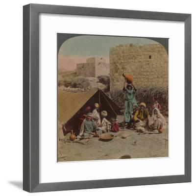 There's no place like home! - dwelling and shop of a Gypsy Blacksmith, Syria, 1900-Elmer Underwood-Framed Photographic Print