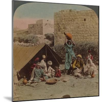 There's no place like home! - dwelling and shop of a Gypsy Blacksmith, Syria, 1900-Elmer Underwood-Mounted Photographic Print