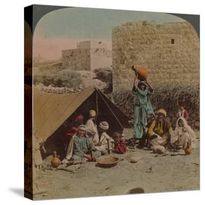 There's no place like home! - dwelling and shop of a Gypsy Blacksmith, Syria, 1900-Elmer Underwood-Stretched Canvas Print