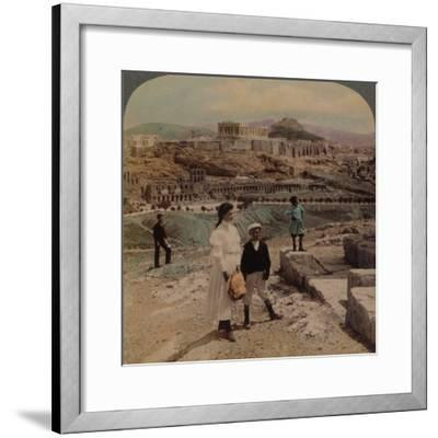 'The Acropolis of Athens, Lycabettus and Royal Palace, from Philopappos monument', 1907-Elmer Underwood-Framed Photographic Print