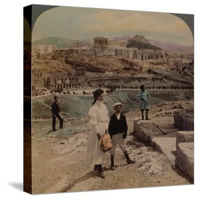 'The Acropolis of Athens, Lycabettus and Royal Palace, from Philopappos monument', 1907-Elmer Underwood-Stretched Canvas Print