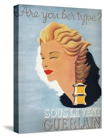 'Are you her type? - Sous Le Vent Guerlain', 1937-Unknown-Stretched Canvas Print