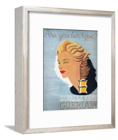 'Are you her type? - Sous Le Vent Guerlain', 1937-Unknown-Framed Giclee Print