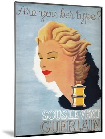 'Are you her type? - Sous Le Vent Guerlain', 1937-Unknown-Mounted Giclee Print
