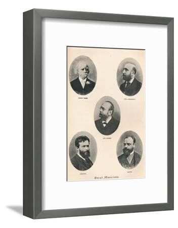 'Great Musicians - Plate VIII.', 1895-Unknown-Framed Photographic Print