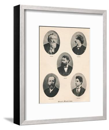 'Great Musicians - Plate VII.', 1895-Unknown-Framed Photographic Print