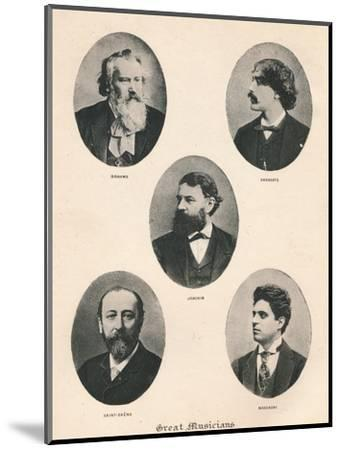 'Great Musicians - Plate VII.', 1895-Unknown-Mounted Photographic Print