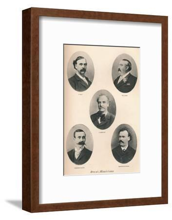 'Great Musicians - Plate VI.', 1895-Unknown-Framed Photographic Print