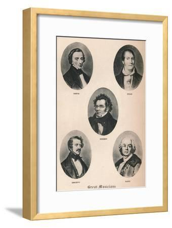 'Great Musicians - Plate XIII.', 1895-Unknown-Framed Giclee Print