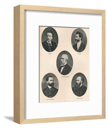 'Great Musicians - Plate IX.', 1895-Unknown-Framed Photographic Print