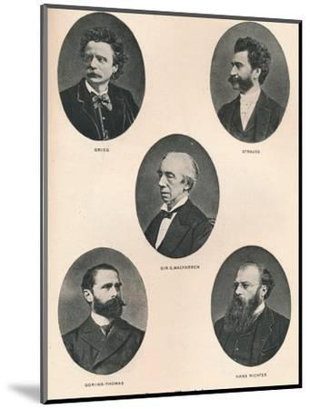 'Great Musicians - Plate IX.', 1895-Unknown-Mounted Photographic Print