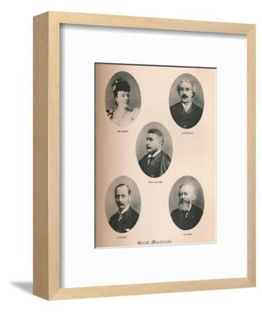 'Great Musicians - Plate XIV.', 1895-Unknown-Framed Giclee Print