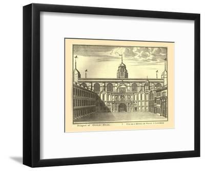 Prospect of the London Guildhall, 1886-Unknown-Framed Giclee Print