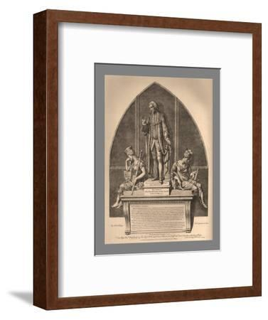 Guild Hall Monument to William Beckford, 1886-Unknown-Framed Giclee Print