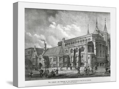 City of London Library and Museum, 1886-Unknown-Stretched Canvas Print