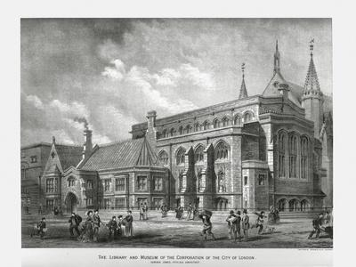 City of London Library and Museum, 1886-Unknown-Framed Giclee Print