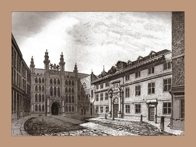 West View of Guildhall Chapel and Blackwell Hall, 1886-Unknown-Framed Giclee Print