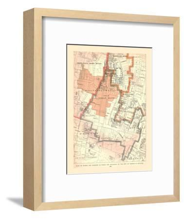 Guildhall City of London. Plan of Wards and Parishes, 1885, (1886)-Unknown-Framed Giclee Print