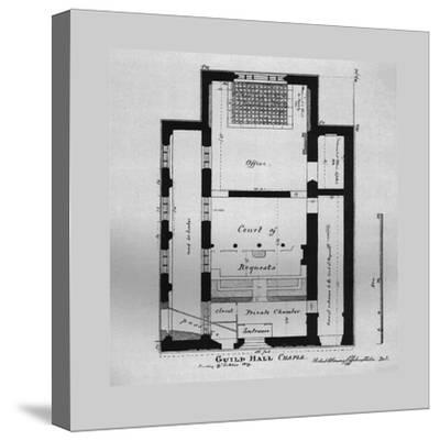 Ground Plan of the Guildhall Chapel 1815, (1866)-Unknown-Stretched Canvas Print