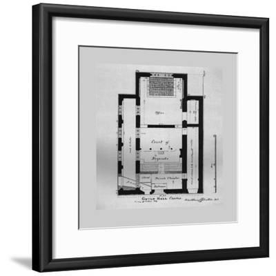 Ground Plan of the Guildhall Chapel 1815, (1866)-Unknown-Framed Giclee Print