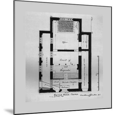 Ground Plan of the Guildhall Chapel 1815, (1866)-Unknown-Mounted Giclee Print