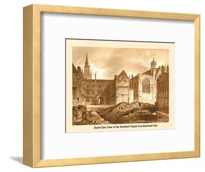 South East View Guildhall Chapel and Blackwell Hall, 1886-Unknown-Framed Giclee Print