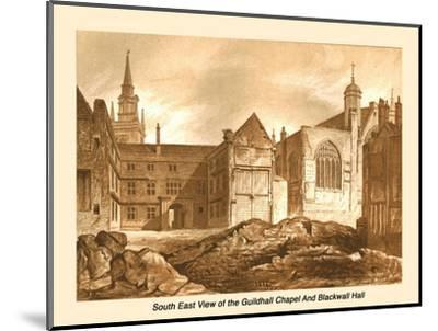 South East View Guildhall Chapel and Blackwell Hall, 1886-Unknown-Mounted Giclee Print