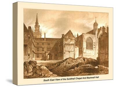 South East View Guildhall Chapel and Blackwell Hall, 1886-Unknown-Stretched Canvas Print