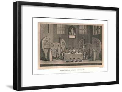 Drawing the State Lottery, 1763, (1886)-Unknown-Framed Giclee Print
