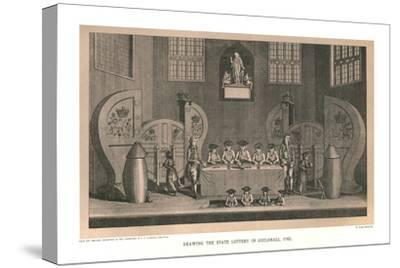 Drawing the State Lottery, 1763, (1886)-Unknown-Stretched Canvas Print