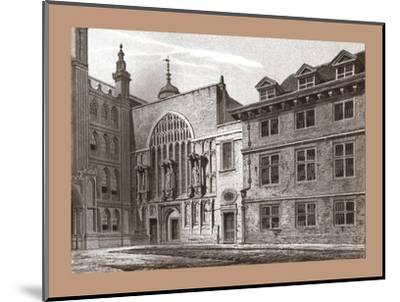 West Front of Guildhall Chapel, 1886-Unknown-Mounted Giclee Print