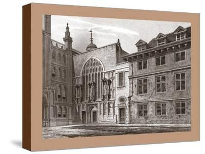 West Front of Guildhall Chapel, 1886-Unknown-Stretched Canvas Print