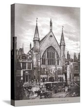 East End of Guild Hall and Library, 1870, (1886)-Unknown-Stretched Canvas Print