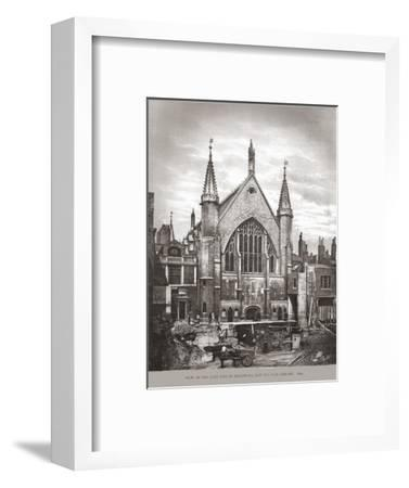 East End of Guild Hall and Library, 1870, (1886)-Unknown-Framed Giclee Print