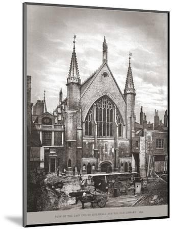 East End of Guild Hall and Library, 1870, (1886)-Unknown-Mounted Giclee Print