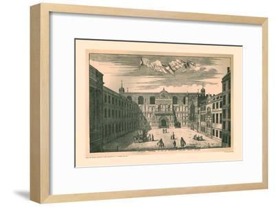 Prospect of the London Guild Hall,1755, (1886)-Unknown-Framed Giclee Print