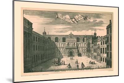 Prospect of the London Guild Hall,1755, (1886)-Unknown-Mounted Giclee Print