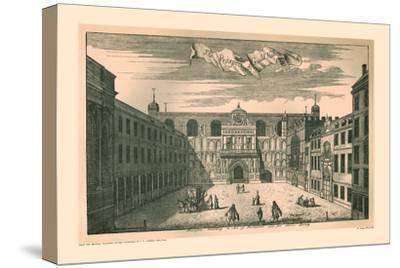 Prospect of the London Guild Hall,1755, (1886)-Unknown-Stretched Canvas Print