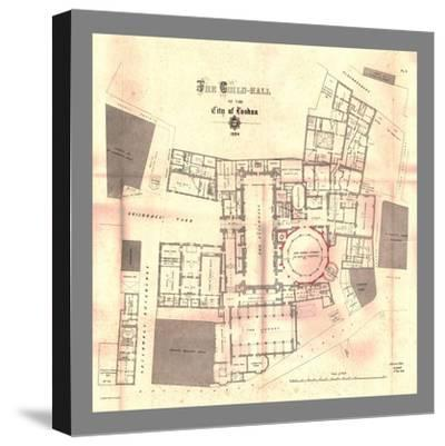 The Guild-Hall of the City of London, Plan, 1884, (1886)-Unknown-Stretched Canvas Print