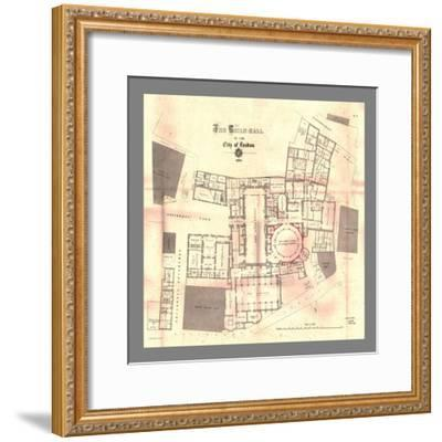 The Guild-Hall of the City of London, Plan, 1884, (1886)-Unknown-Framed Giclee Print