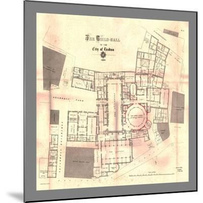 The Guild-Hall of the City of London, Plan, 1884, (1886)-Unknown-Mounted Giclee Print