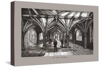 The Guild-Hall Crypt, 1886-Unknown-Stretched Canvas Print