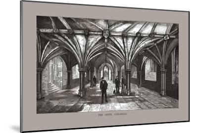 The Guild-Hall Crypt, 1886-Unknown-Mounted Giclee Print