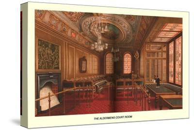 The Aldermens Court Room, 1886-Unknown-Stretched Canvas Print