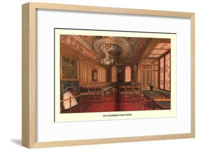 The Aldermens Court Room, 1886-Unknown-Framed Giclee Print