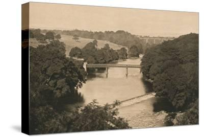 'The Weir Below Barnard Castle', 1902-Unknown-Stretched Canvas Print