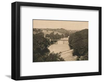 'The Weir Below Barnard Castle', 1902-Unknown-Framed Photographic Print