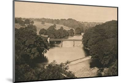 'The Weir Below Barnard Castle', 1902-Unknown-Mounted Photographic Print