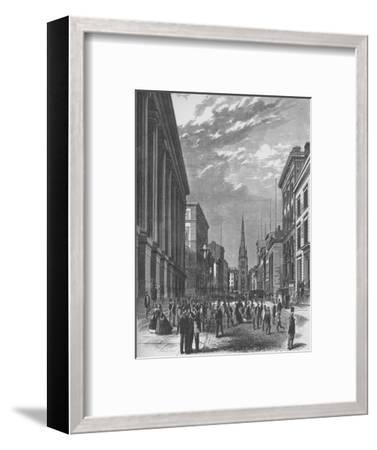 'Wall Street, New York City', 1866, (1938)-Unknown-Framed Giclee Print
