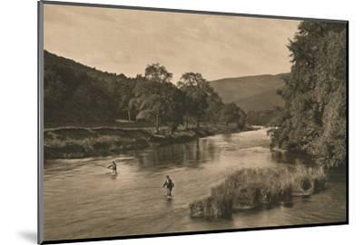 'On the Tweed near Innerleithen', 1902-Unknown-Mounted Photographic Print